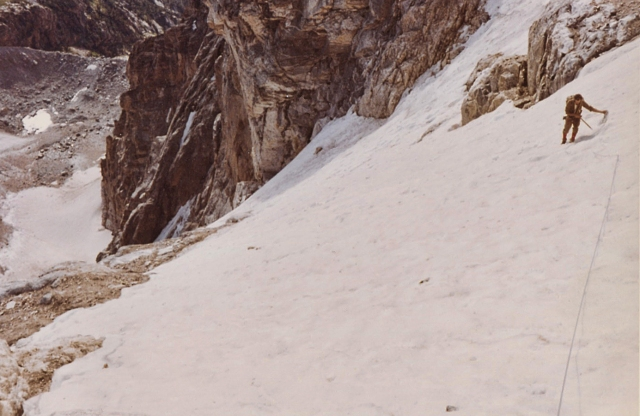 A snowfield on the North face route, 1964