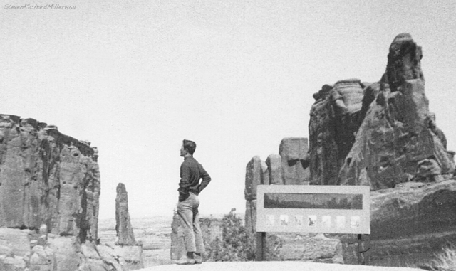 Harvey T Carter, in Arches National Park, April 13, 1964