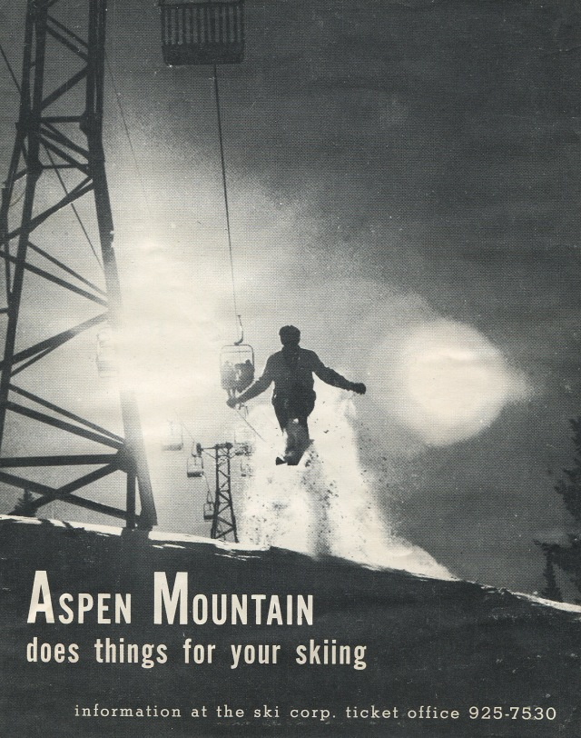 Me, jumping on the Ridge of Bell, Aspen Mountain, 1965