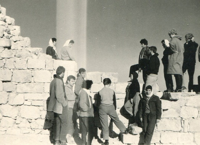 Kibbutzniks and some European volunteers