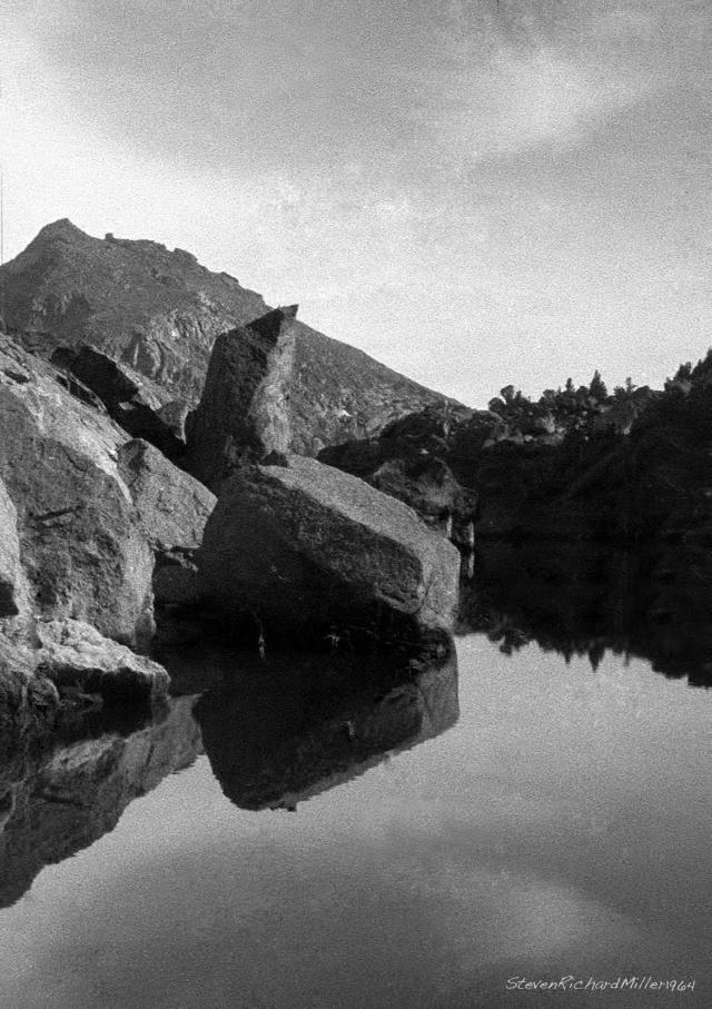 Lake and boulders