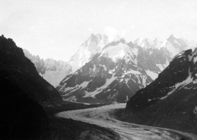 Mer de Glace from Charpoua Hut Approach, 7-27-62