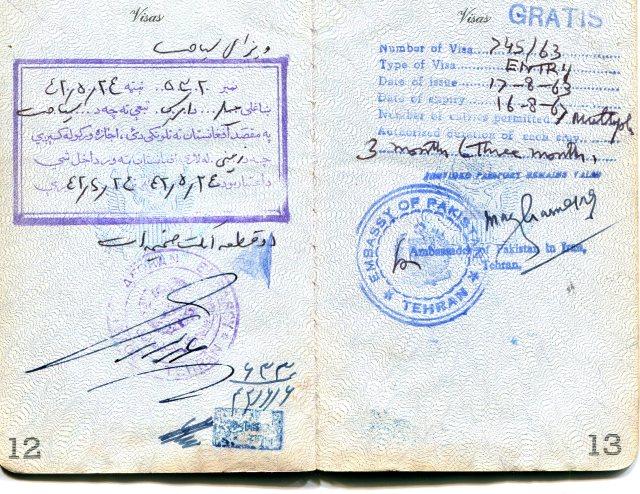 Passport AfghanistanPakistan