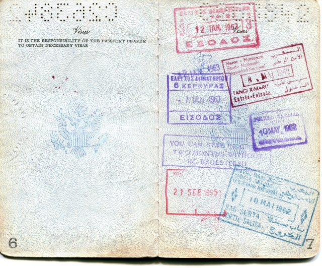 Passport, entry to Morocco
