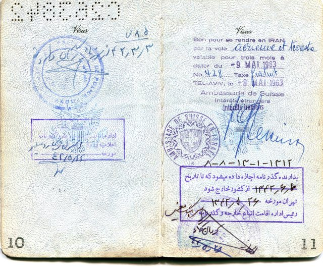 Passport, visa for Iran
