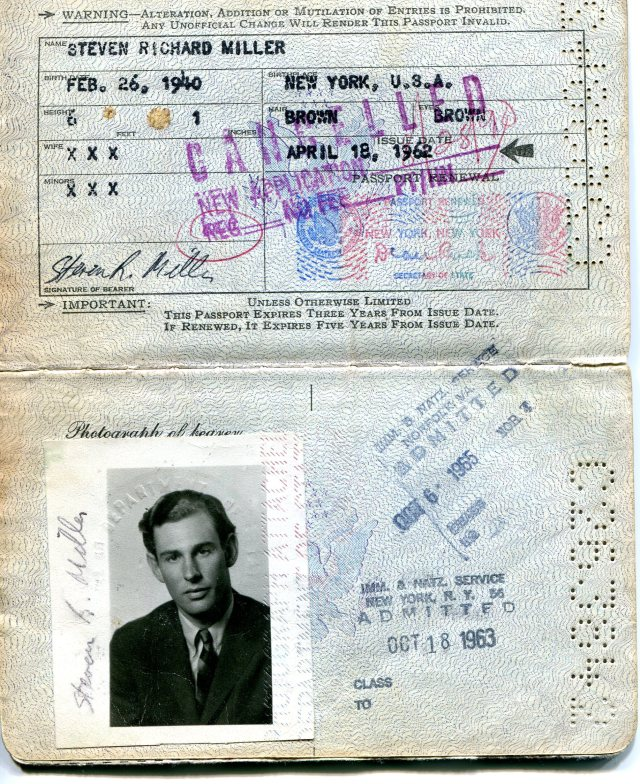 My first passport, issued April 18, 1962