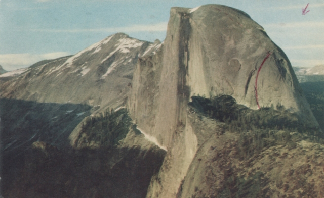 SW Face of Half Dome, 1964