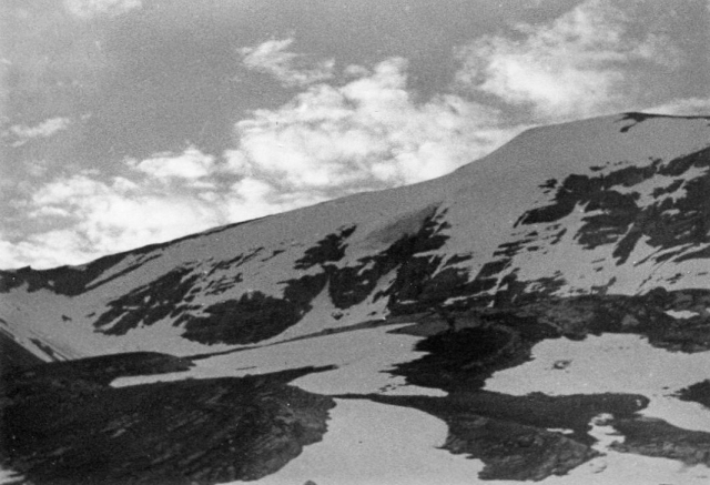 Rinderhorn, elevation: 11328 ft / 3453 m. June 26, 1962