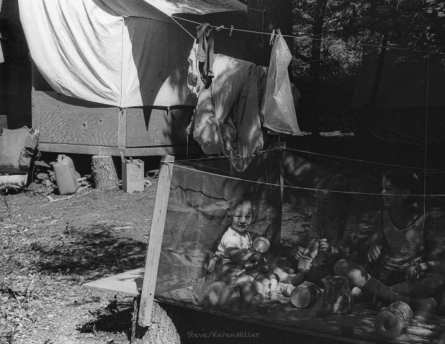 Ethan, at Foley Ridge base camp, Oregon, Northwest Outward Bound School, 1968