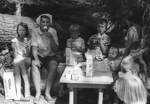 Ethan, at Foley Ridge base camp, Oregon, Northwest Outward Bound School, 1968