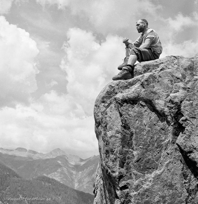 John Evans, rock climbing at the Quartzite cliffs