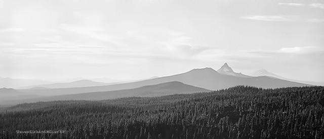 Oregon. Mts. Jefferson and Adams