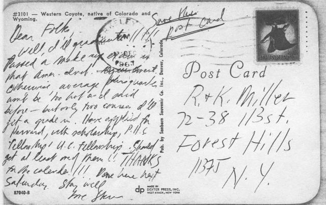 Postcard, Dec. 1967