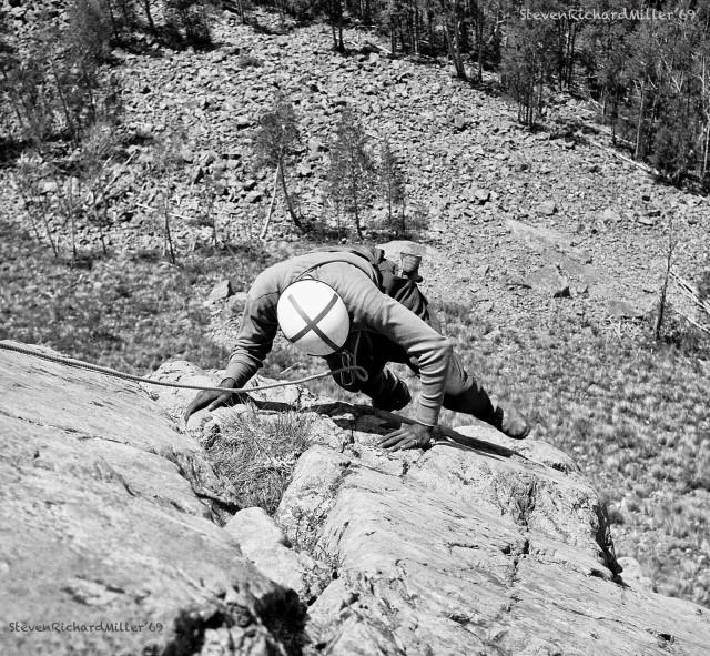Rock climbing at the Quartzite cliffs