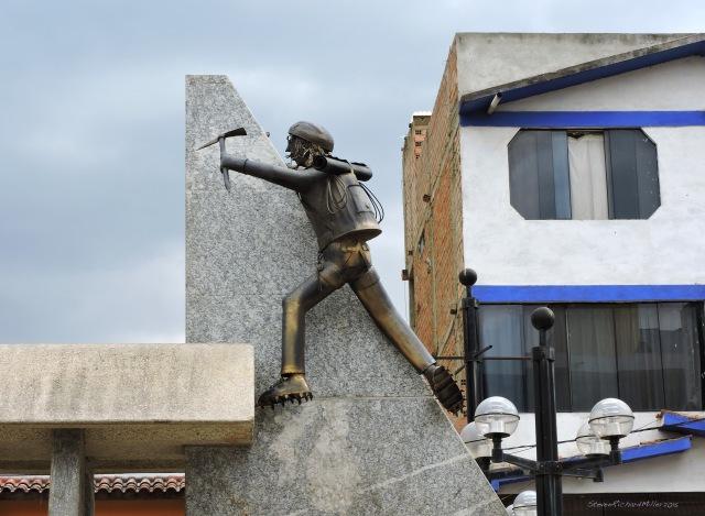 Climber statue