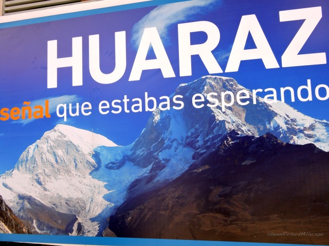 Billboard showing Huascaran from the east, the view we had from Laguna 69