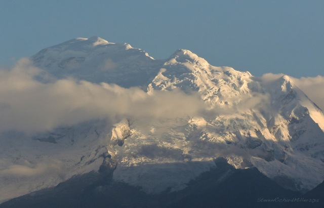 Roadside telephoto view of Huascaran Sur (22,205')