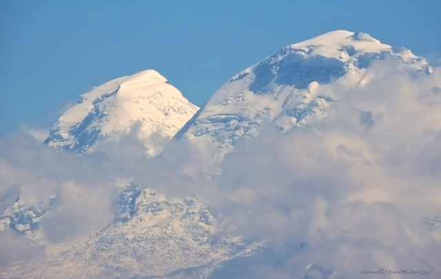 Huascaran, with its south and north peaks. The south is the higher
