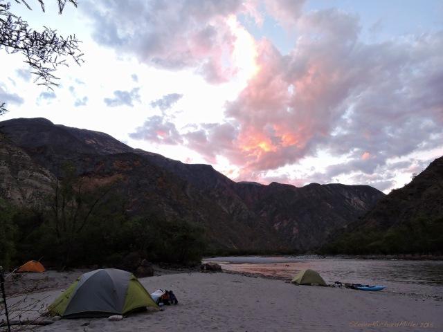 Camp #3, above Quebrada Sanachgan, at K. 58