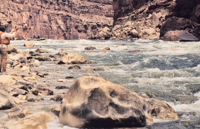 John Wasson, at House Rock Rapid, Colorado River in the Grand Canyon