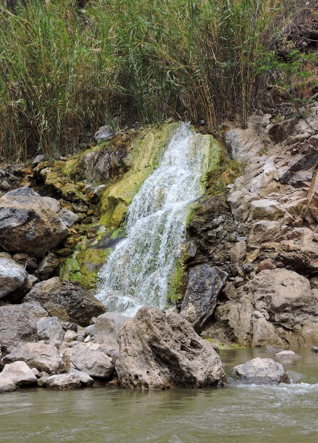 A travertine spring