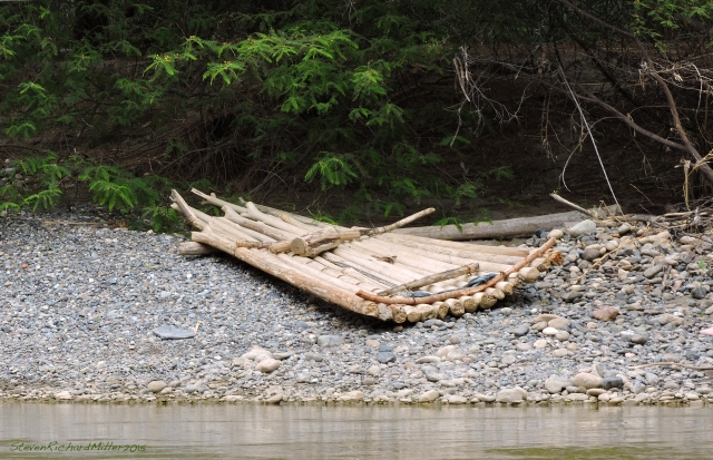 A curved raft
