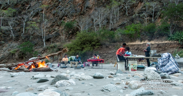 A roomy camp beside a clear stream