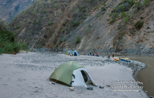 Camp #10, upstream view (Britt Runyon photo)