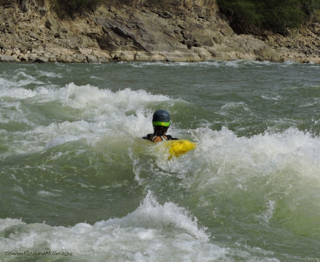 Barba, surfing at Santa Rosa Rapid