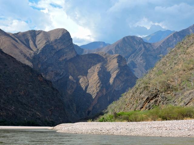 Downstream view of Cerro Mataca Chica, 13,000'