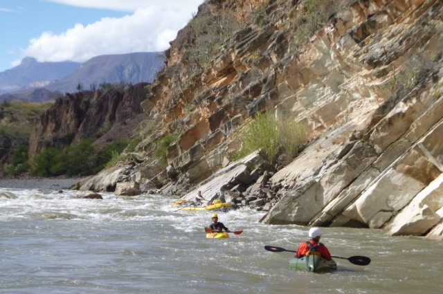 Hot Springs Rapid,. view back upstream