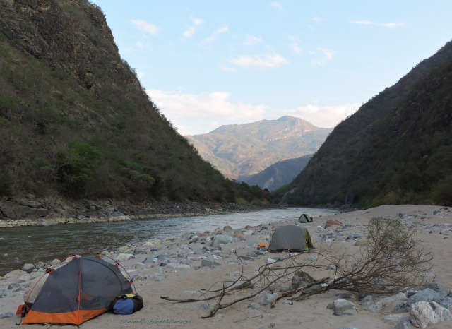 Camp #23, downstream view
