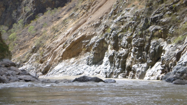 The last whitewater of Wasson's Landslide Rapid. We had arrived at Wasson's at 7 AM, and were finished at 2:20 PM