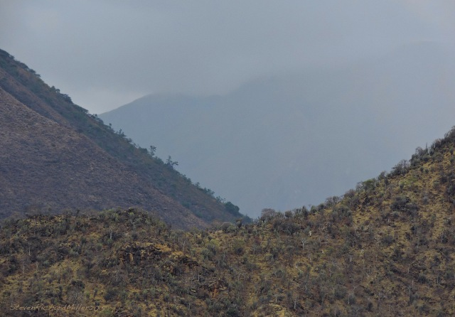 Rainy mountain, east of the village of Jecumbui