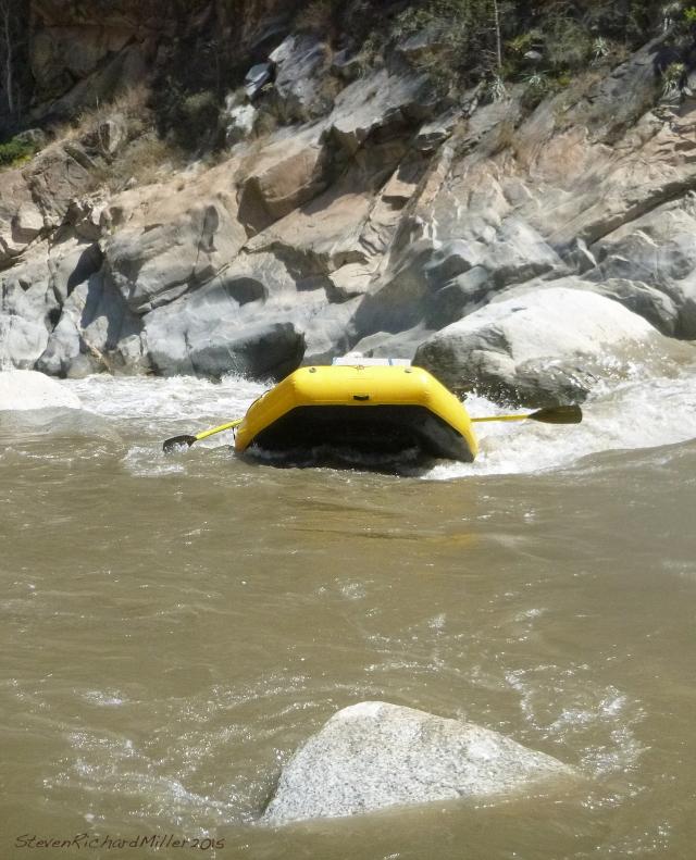 Pedro takes CJ's boat over the drop ...