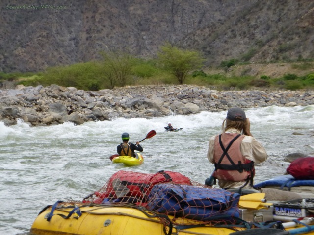 Here, Kark, in his packraft, succewssfully runs through those waves