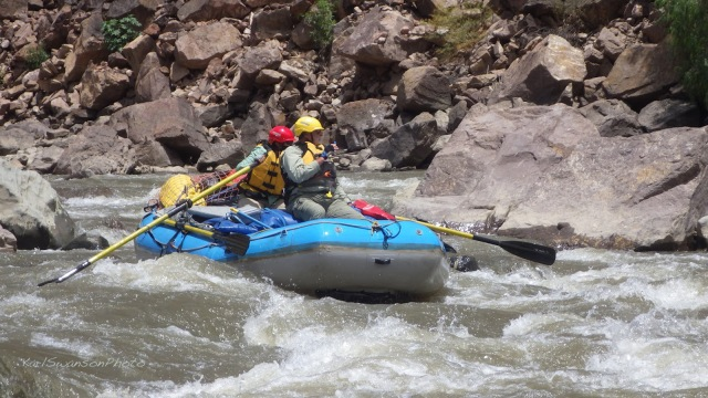 Kathy and me, in Pauca Rapid (Karl Swanson photo)