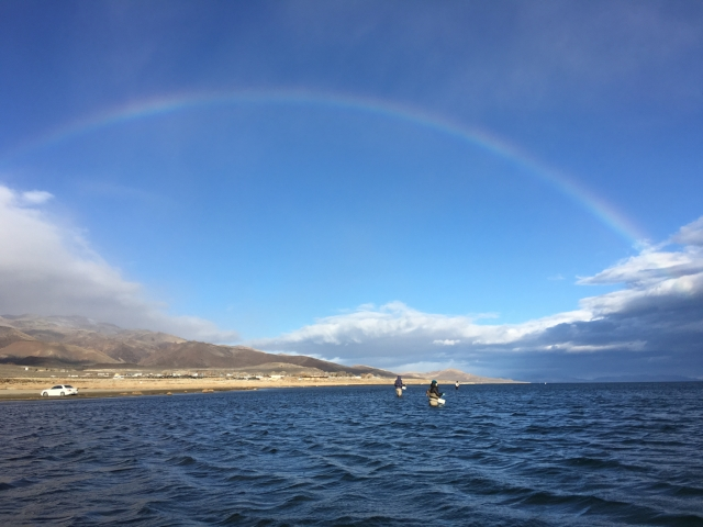 Rainbow, the next morning at South Nets (photo by Ethan Miller)