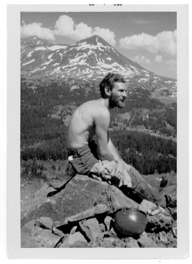 Scott Vollstedt, photo #2. Northwest Outward Bound School, Sisters Wilderness, OR, Summer, 1968