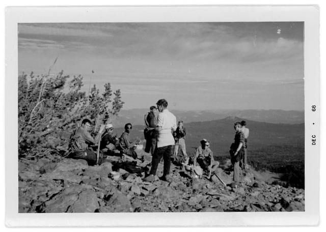 Scott Vollstedt, photo #3. Northwest Outward Bound School, Sisters Wilderness, OR, Summer, 1968