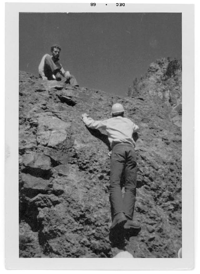 Scott Vollstedt, photo #1. Northwest Outward Bound School, Sisters Wilderness, OR, Summer, 1968