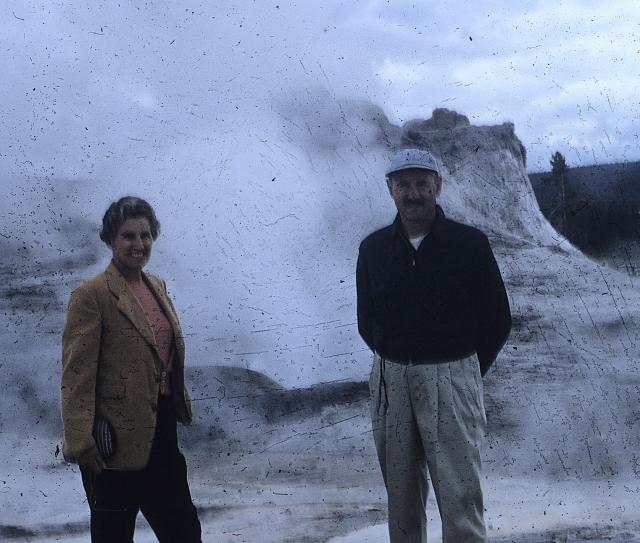 Yellowstone geyser basin. The folks.