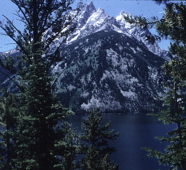 The Tetons. Teewinot and Mt. Owen