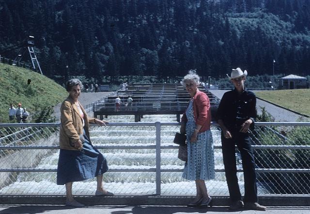 Bonneville fish ladder. Me, Mom and Etta