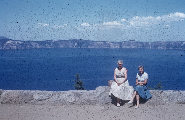 Crater Lake. Etta and Mom