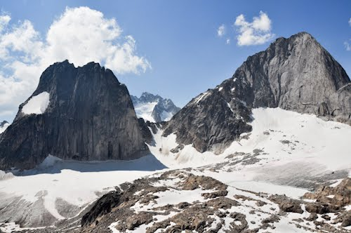 Snowpatch and Bugaboo Spires, and the col between