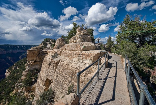 The trail to Bright Angel Point, on the North Rim. 2010