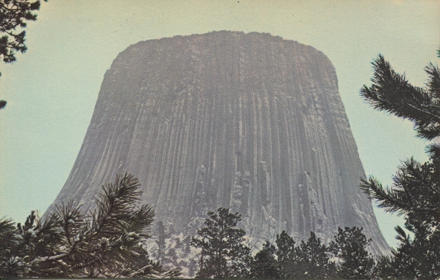 Devils Tower postcard