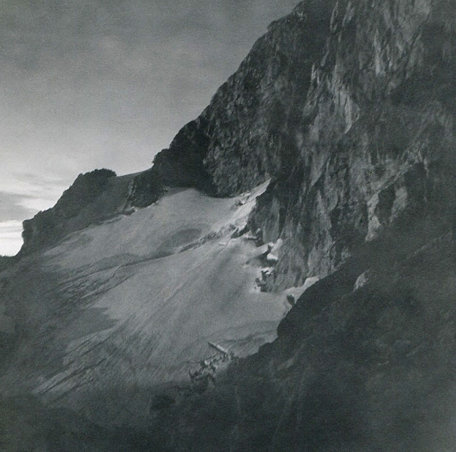 Middle Teton Glacier, by first light