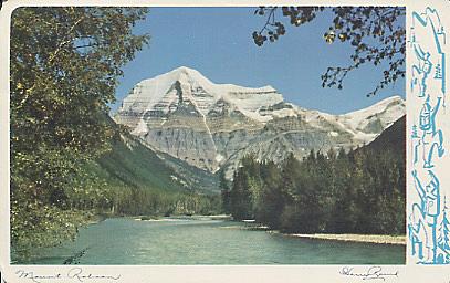 Mt. Robson postcard